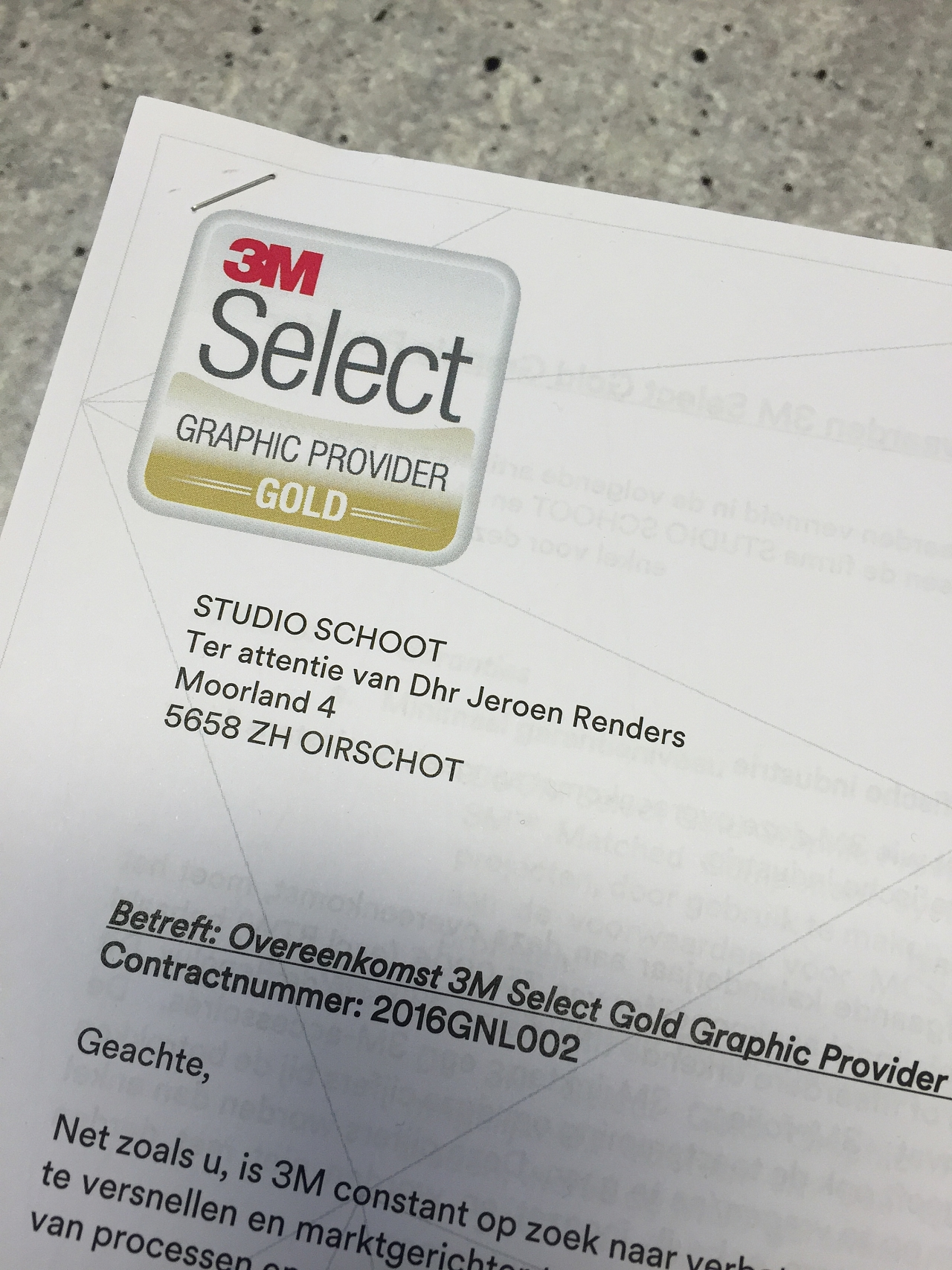 3M Select Gold Graphic Provider