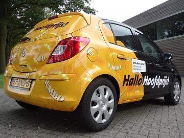 Jumo Edward Hamers wrappen Opel Corsa