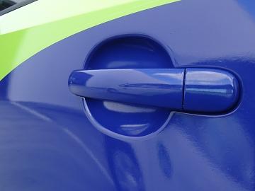 Zuidzorg belettering VW Up detail