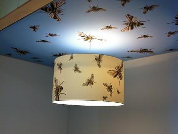 Interieursigning lampenkappen zuidzorg gecombineerd met flexframe
